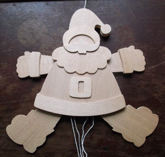 large Wood Santa ready to paint Christmas home decor craft supply