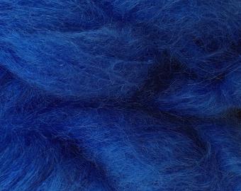 Mohair Yarn in True Blue Fingering Weight