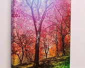 Wonder Tree ... trippy, colorful rainbow trees canvas