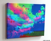 Colorful.Afternoon...16X20 gallery wrap canvas / fine art giclee print photo collage