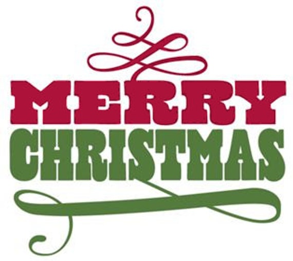 merry christmas word art transparent