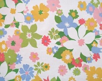 field of flowers, a vintage sheet fat quarter
