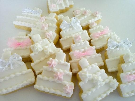 Wedding Cakes Mini Sugar Cookies- 4 dozen