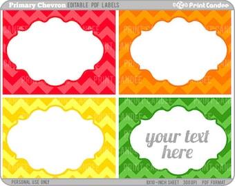 Rectangle - Editable PDF (8x10) - Printable Labels / Cards