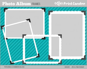 Photo Album Frames - Personal and Commercial Use - digital clipart frames clip art