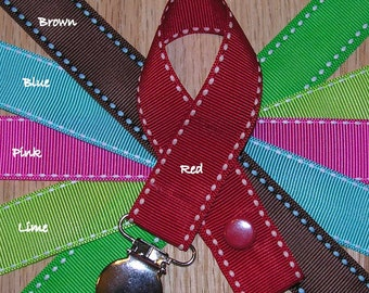 Saddle Stitch Soothie / Pacifier Clip