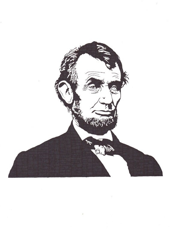 Abraham Lincoln - 16th President of the United States - Original Illustration