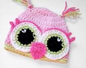 Li'l Owl Hat/ Toddler hat / crochet baby hat / photo prop for newborns pictures