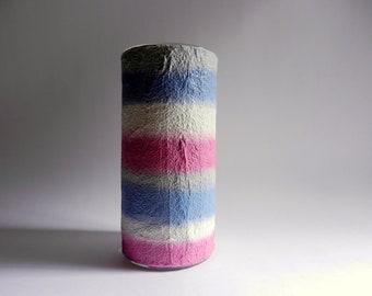 Vase / cylinder vase / Home Decor / grey blue white pink vase
