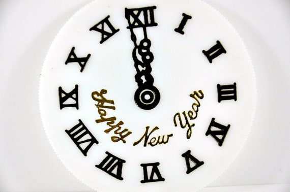 New Years Clock Cake Topper Decoration