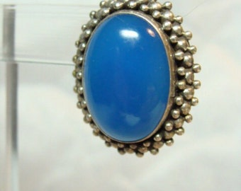 Lovely Blue Chalcedony Sterling Silver Vintage Earrings