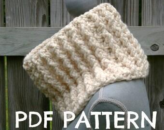 Crochet Pattern Chunky Ribbed Cowl PDF (Digital Download)
