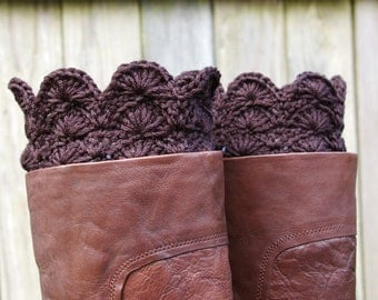 Boot Cuffs in Black Crochet Boot Toppers Boot Socks