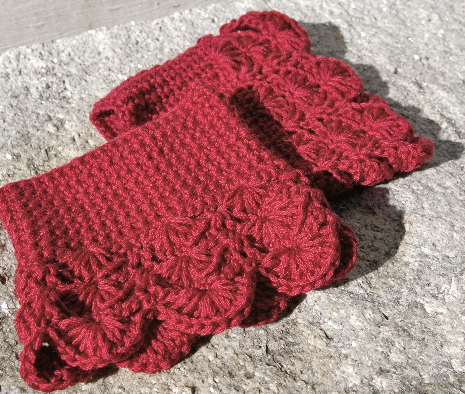 Crochet Boot Cuffs With Lace Pattern : Crochet Boot Cuffs Lace Boot Cuffs Boot Toppers by ...