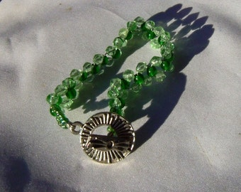 Shades of Green Crystal Bracelet