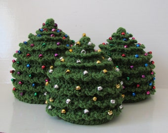 CROCHET Christmas PATTERN HAT Christmas Tree in 5 Sizes 0 to 5 plus years Beaded