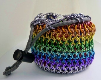 CUSTOM COLORS - Chainmaille Dice Bag