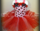Love Bug Lady Bug Valentine's Birthday party pageant tutu corset dress 12m 18m 2t 3t 4t 5t 6
