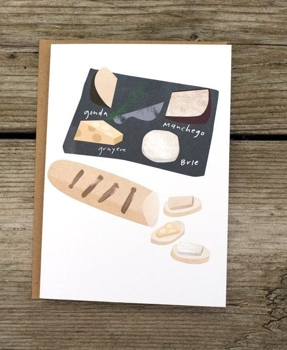 carte de plaque A6 de fromage