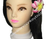 DOUBLE CURLED-IN Foam Plumeria Hair Picks or Clips - Your Choice of 5 . . .