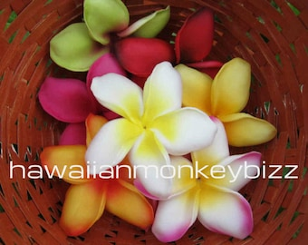 ISLAND PLUMERIAS - Foam Hair Picks or Clips - Your Choice of 3 . . .