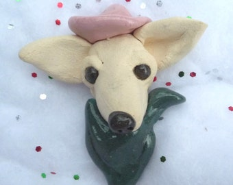 Cute Chihuahua  Tan  Dog with a black nose  Pin