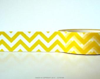 Yellow Chevron Washi Tape Chugoku Pretty Tape Shop
