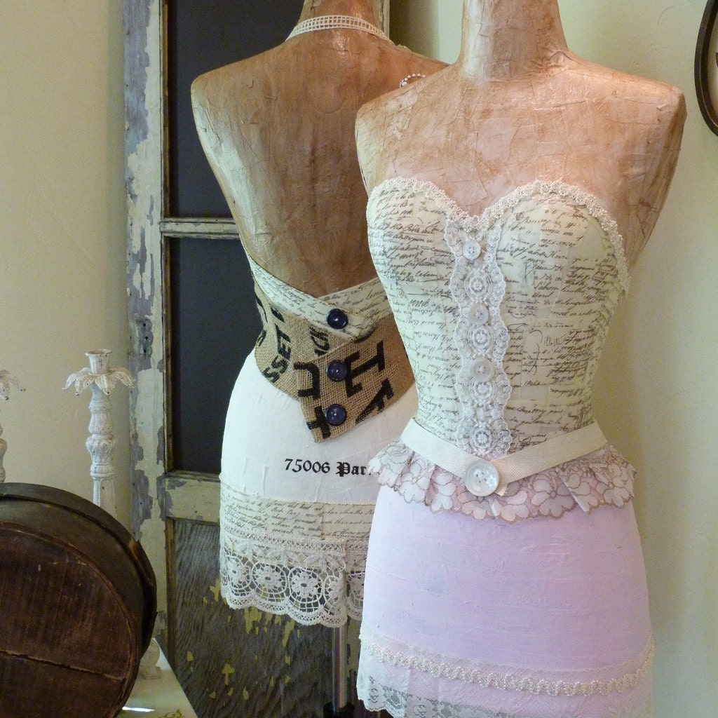 Vintage Inspired Classic Soft Pink Nursery: Vintage Inspired Dress Form Mannequin Soft Pink Custom For
