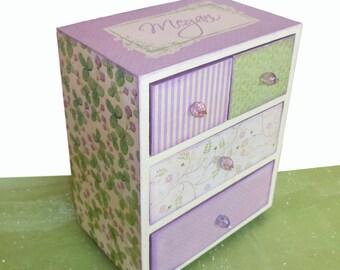 Girls Jewelry Box Personalized English Lavender