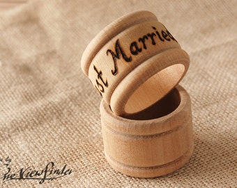 Rustic Customize Napkin rings - set of 2