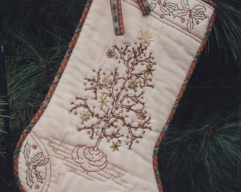 Holiday Charms - Pattern for a Hand Embroidered Christmas Stocking