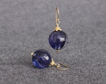 blue goldstone earrings . queen of sheba