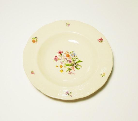 Vintage Swedish Floral Plates