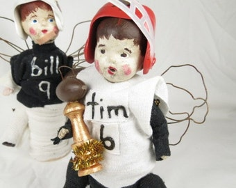 """Angel """"Timmy""""  A Football Player Assemblage Art Doll"""