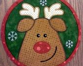 7 1/2 Quilted Rudolph Mug Mat