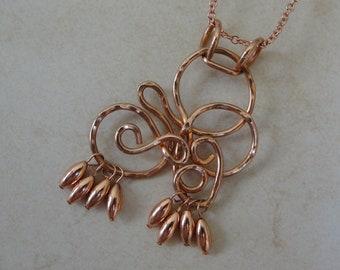 Copper Swirls Necklace
