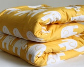 Yellow Elephant Baby Play Mat. Super Size  and Double Padded Floor Mat