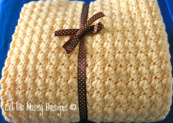 Crochet Heirloom Baby Blanket PDF PATTERN for Boy or Girl