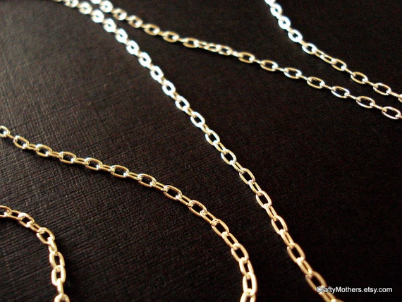 CHAIN SALE - Sterling Silver Long Cable Chain, 18 Inches, 26 gauge - 10% OFF list price for a limited time