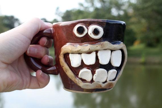 Mugs. Coffee Mug. Wheel Thrown Stoneware Coffee Cup