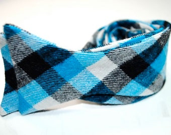 Blue Bow Ties Flannel Plaid Bow Ties Mens Bow Ties Self Tie Bow Ties Custom Bow Ties