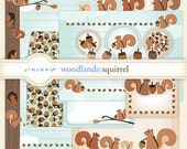 Woodlands Squirrel Stationery - Printable PDF