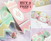 Kawaii Candy Giftbox OFFER (Buy 3 Candy Giftboxes, FREE 1 GIFTBAG) Cute Valentine's Love Birthday Party Box Packaging Editable Printable Pdf