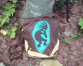 SALE!!! was 145.00 now 110.00 Leather Possibles Bag or Purse with a Kokopelli design on the front