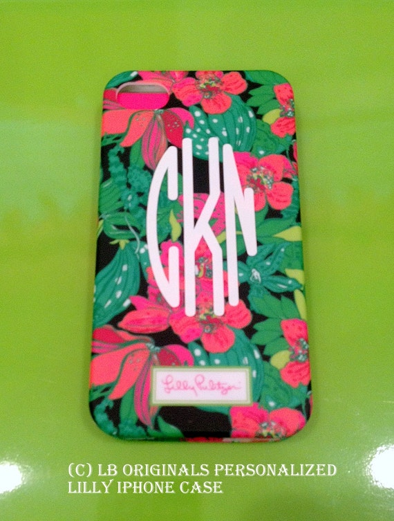 Personalized Lilly iPhone cover