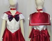 Child's Sailor Mars Costume Cosplay Costume Size Girls 18mo 2 3 4 5 6 7 8 9 10 11 12 14 Sailor Moon