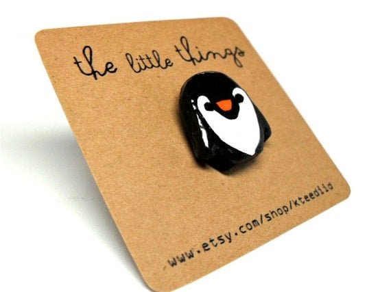 Penguin Brooch // Pin