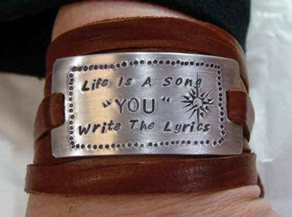 Leather Wrap Bracelet Adjustable