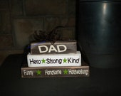 Dad / Grandpa / Father Stacker wood block set for fathers day or just because