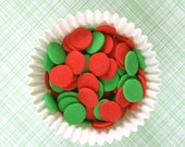 Christmas Sprinkles, Red and Green Confetti Sprinkles, Jumbo Christmas Confetti Quins (3 ounces)
